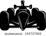 indy style of race car.... | Shutterstock .eps vector #195727505