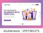 landing page template eid... | Shutterstock .eps vector #1957281271