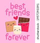 cute s'more cartoon with...   Shutterstock .eps vector #1957293391