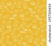 vector food seamless pattern... | Shutterstock .eps vector #1957324654