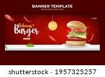 burger or food ads banner... | Shutterstock .eps vector #1957325257