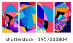 vector colorful abstract fluid... | Shutterstock .eps vector #1957333804