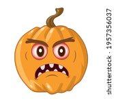 wicked pumpkin for halloween.... | Shutterstock .eps vector #1957356037