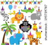 vector collection of birthday... | Shutterstock .eps vector #195739787