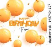 happy birthday greeting banner...   Shutterstock .eps vector #1957404127