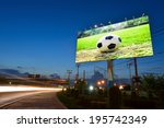 soccer in the field advertising ... | Shutterstock . vector #195742349