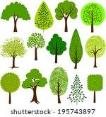 tree clip art 2 | Shutterstock .eps vector #195743897