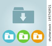 Vector flat folder icons