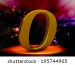3d yellow letter o isolated... | Shutterstock . vector #195744905