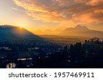 Beautiful Sunset Over Salzburg  ...