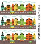 fun cars pattern design. vector ... | Shutterstock .eps vector #195748511