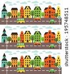 fun cars pattern design. vector ... | Shutterstock .eps vector #195748511