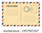 vintage postcard with paper... | Shutterstock .eps vector #1957507207