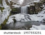 Snow Covered  Scenic Waterfall...