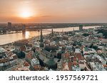 Riga Rooftop View Panorama At...