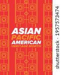 asian pacific american heritage ... | Shutterstock .eps vector #1957573474