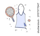 flat doodle vector illustration ... | Shutterstock .eps vector #1957577047