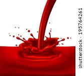 raster version. pouring of red... | Shutterstock . vector #195764261