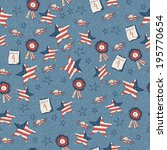 seamless pattern with stars in... | Shutterstock .eps vector #195770654