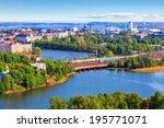 Scenic Summer Aerial Panorama...