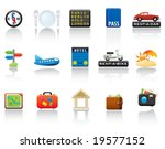 travel icon set. easy to edit... | Shutterstock .eps vector #19577152