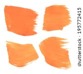 broad strokes of orange paint... | Shutterstock .eps vector #195772415