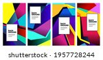 vector colorful abstract fluid... | Shutterstock .eps vector #1957728244