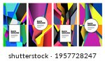 vector colorful abstract fluid... | Shutterstock .eps vector #1957728247