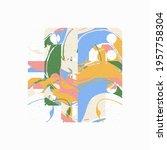 modern artwork of abstract... | Shutterstock .eps vector #1957758304
