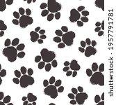 animal paw vector seamless...   Shutterstock .eps vector #1957791781