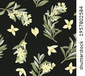 seamless pattern of blooming... | Shutterstock . vector #1957802584