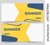 abstract banner template design.... | Shutterstock .eps vector #1957807984