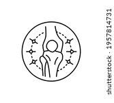 rheumatology color line icon....