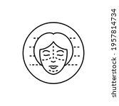 plastic surgery color line icon....