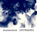 vector indigo watercolor. blue... | Shutterstock .eps vector #1957836901