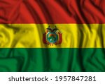 Bolivia flag realistic waving for design on independence day or other state holiday. 3D illustration