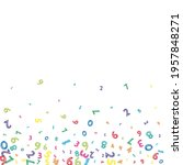falling colorful messy numbers. ... | Shutterstock .eps vector #1957848271