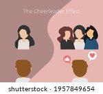 cheerleader effect or group... | Shutterstock .eps vector #1957849654