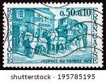 france   circa 1973  a stamp...   Shutterstock . vector #195785195