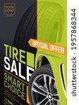 tire. sale brochure. tire car... | Shutterstock .eps vector #1957868344