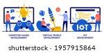 computer games  virtual world...   Shutterstock .eps vector #1957915864