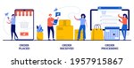 order placed  received and... | Shutterstock .eps vector #1957915867