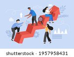 increase motivation and help in ... | Shutterstock .eps vector #1957958431