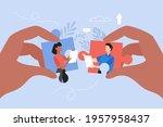 client and developer... | Shutterstock .eps vector #1957958437