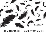 feather silhouette icon vector... | Shutterstock .eps vector #1957984834