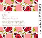 wedding invitation cards with... | Shutterstock .eps vector #195798929