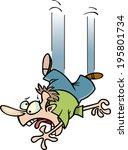 cartoon man falling through the ... | Shutterstock .eps vector #195801734