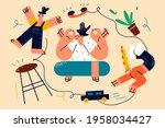 tiredness and meditation...   Shutterstock .eps vector #1958034427