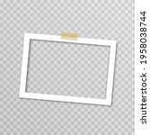 vector photo frame with duct... | Shutterstock .eps vector #1958038744