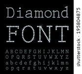 vector font with diamonds. | Shutterstock .eps vector #195804875